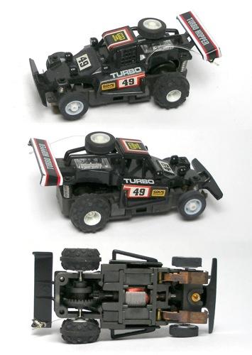 1988 TYCO 440-X2 Turbo Hopper #49 Dune Buggy Quad HO Slot