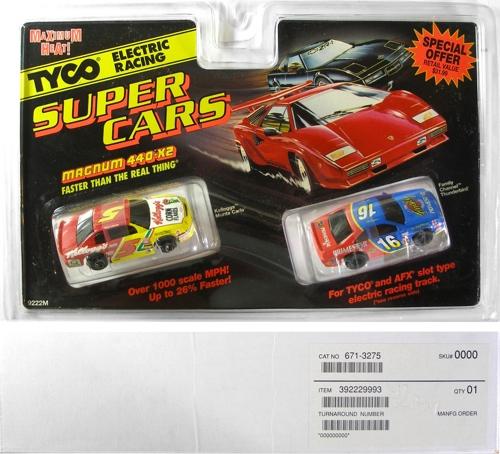 1998 TYCO Nascar Maximum Heat HO Slot Car Twinpack 9222