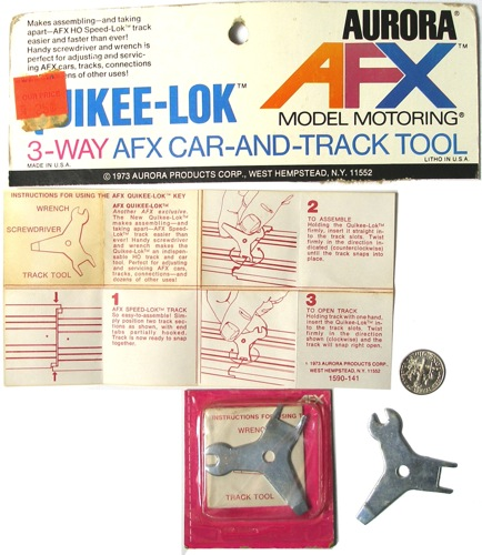 1 Aurora AFX G+ G-Plus HO Slot Car & Track QUICKEE-LOK KEY